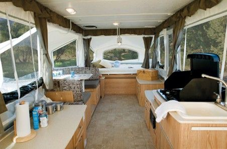 Palomino Banshee Folding Travel Trailer 2008 Interior