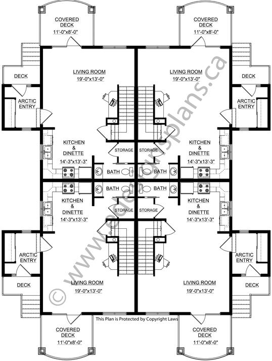 4 plex house plans escortsea for 8 plex floor plans