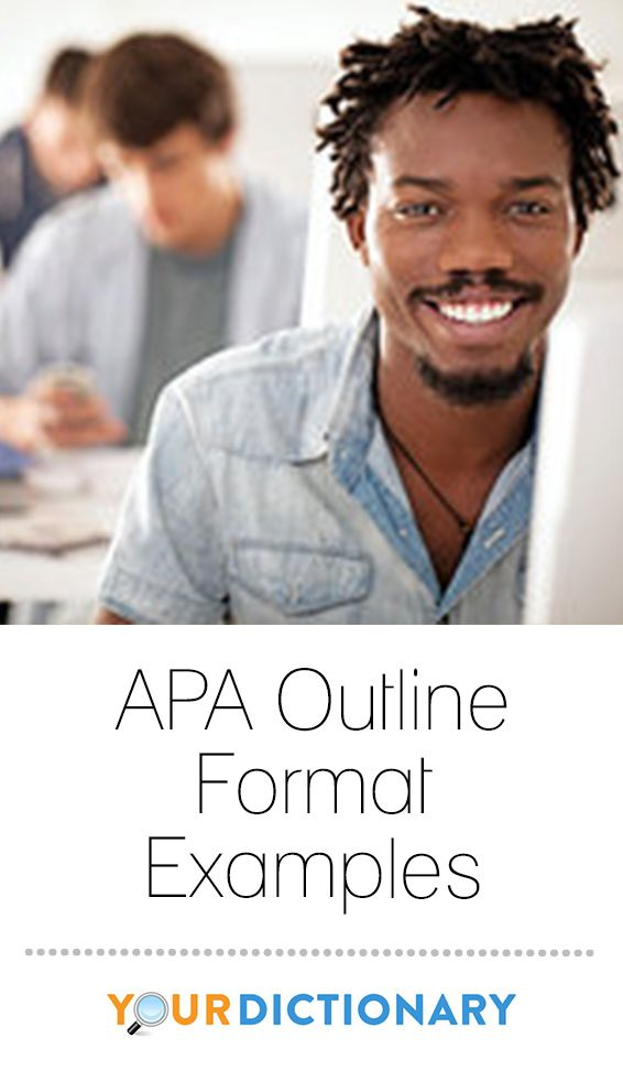 APA Outline Format Examples Outlines American