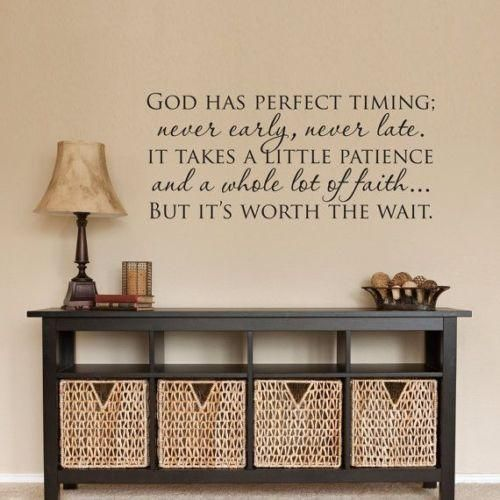 GOD HAS PERFECT TIMING Christian Wall Decal Vinyl Words Lettering Decor  Sticker | Christian Wall Decals, Perfect Timing And Wall Decals