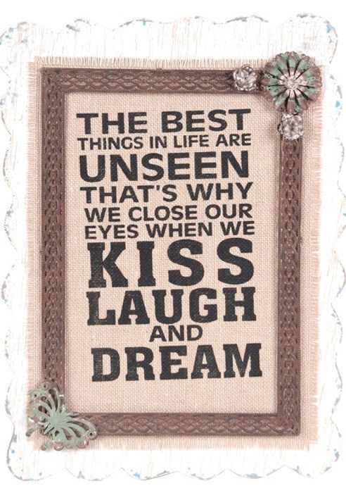 The Best Things Quote Wall Art ❥
