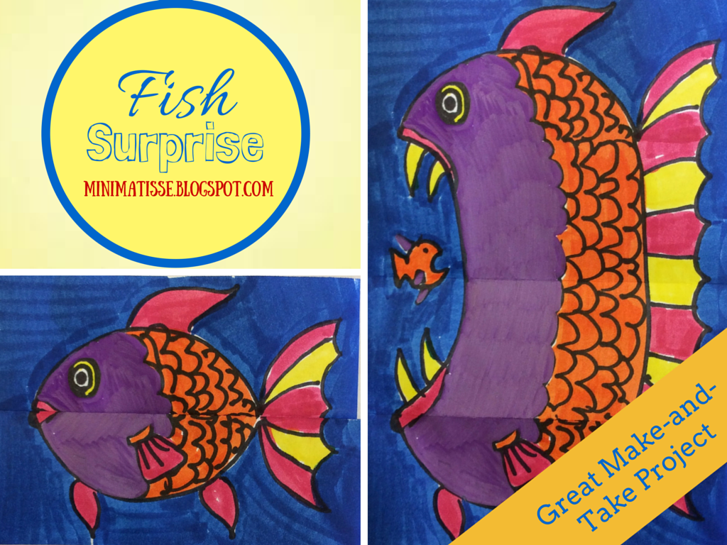 Mini Matisse Fish Surprise One Day Make And Take Or Sub Plans
