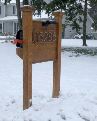 wood mailbox ideas. Pressure Treated Wood Mailbox Support And Snow Guard With Decorative Accessories Ideas L