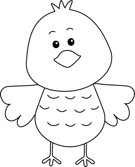 Black And White Clip Art Free Birds