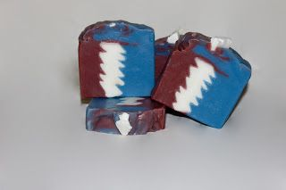 Ripple, Grateful Dead inspired soap by Ladybee Soaps