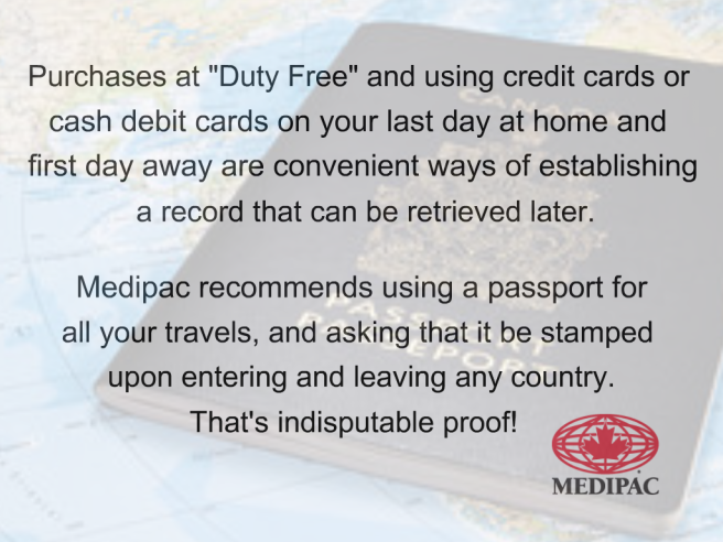Travel Insurance Tip of the Week Present Proof of