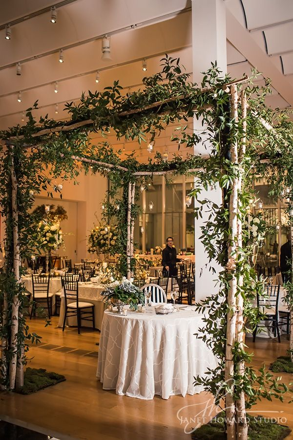 bringing the garden indoors a canopy of green for the bride and grooms sweetheart table - Green Canopy Decoration