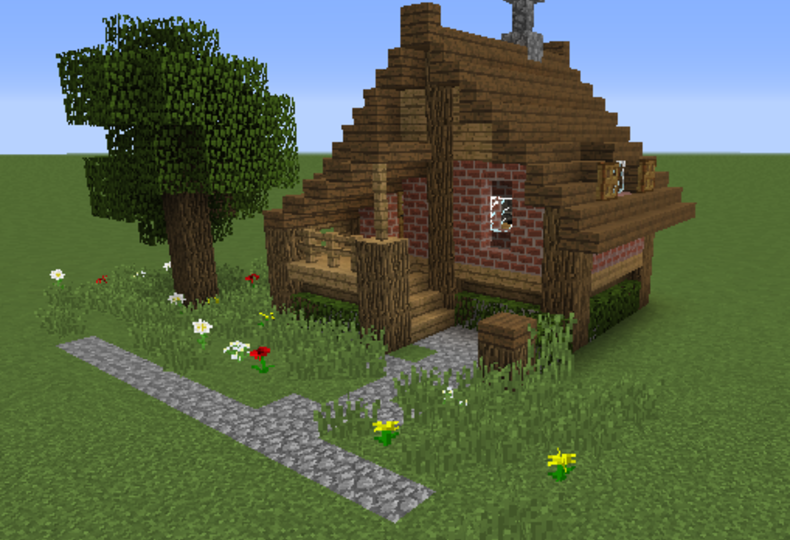 Small House Blueprints In Link Minecraft Small House Minecraft Cottage Easy Minecraft Houses