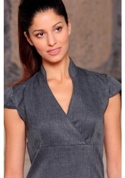 Nicol grey linen look uniform moods uniformes m dicos for Spa uniform grey