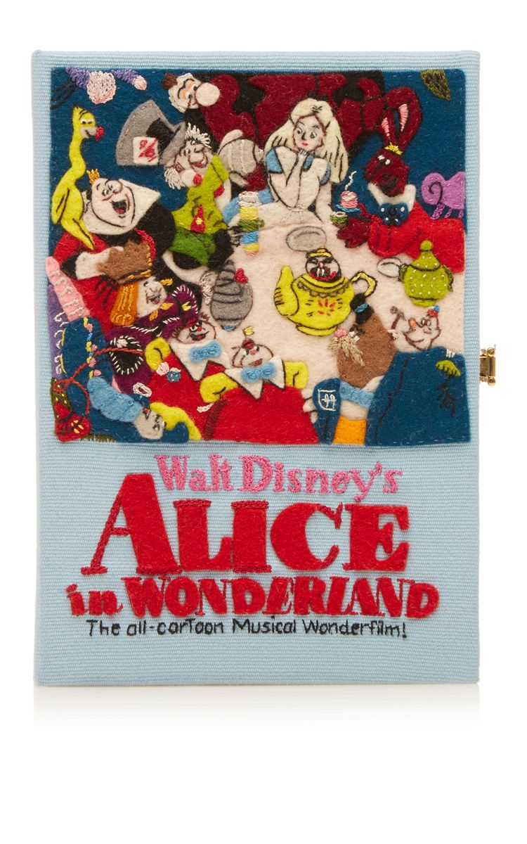 Alice in Wonderland Musical Book Clutch by Olympia Le-Tan for Preorder on Moda Operandi