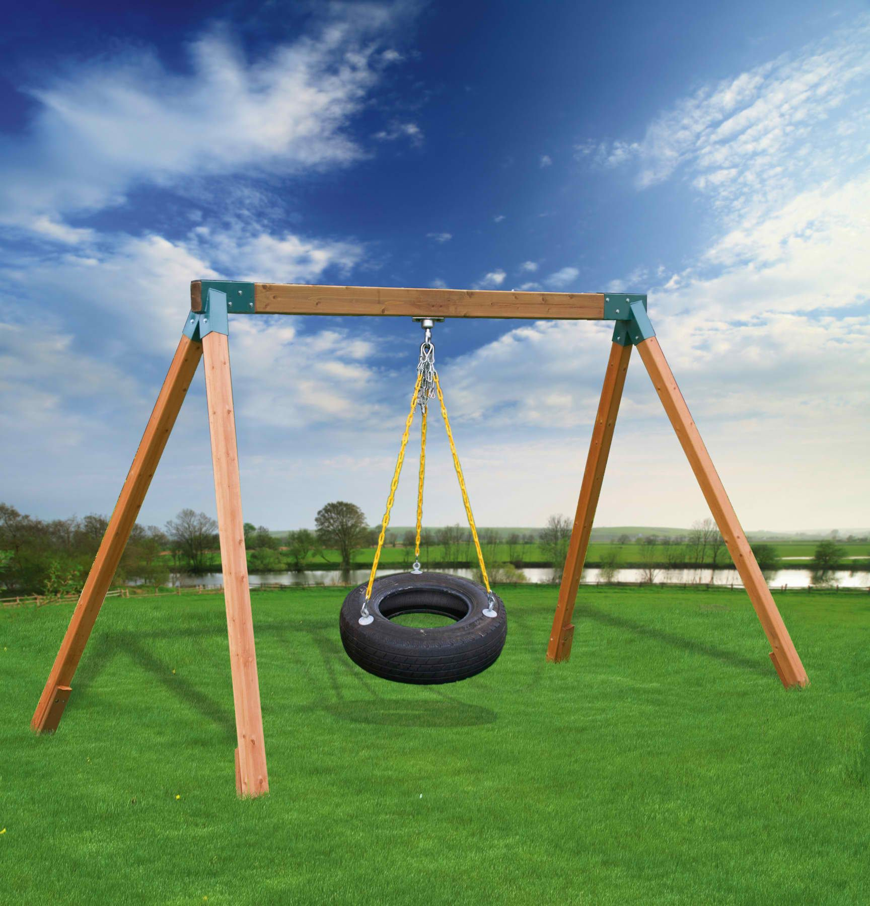 Tire swing with no tree #tireswing