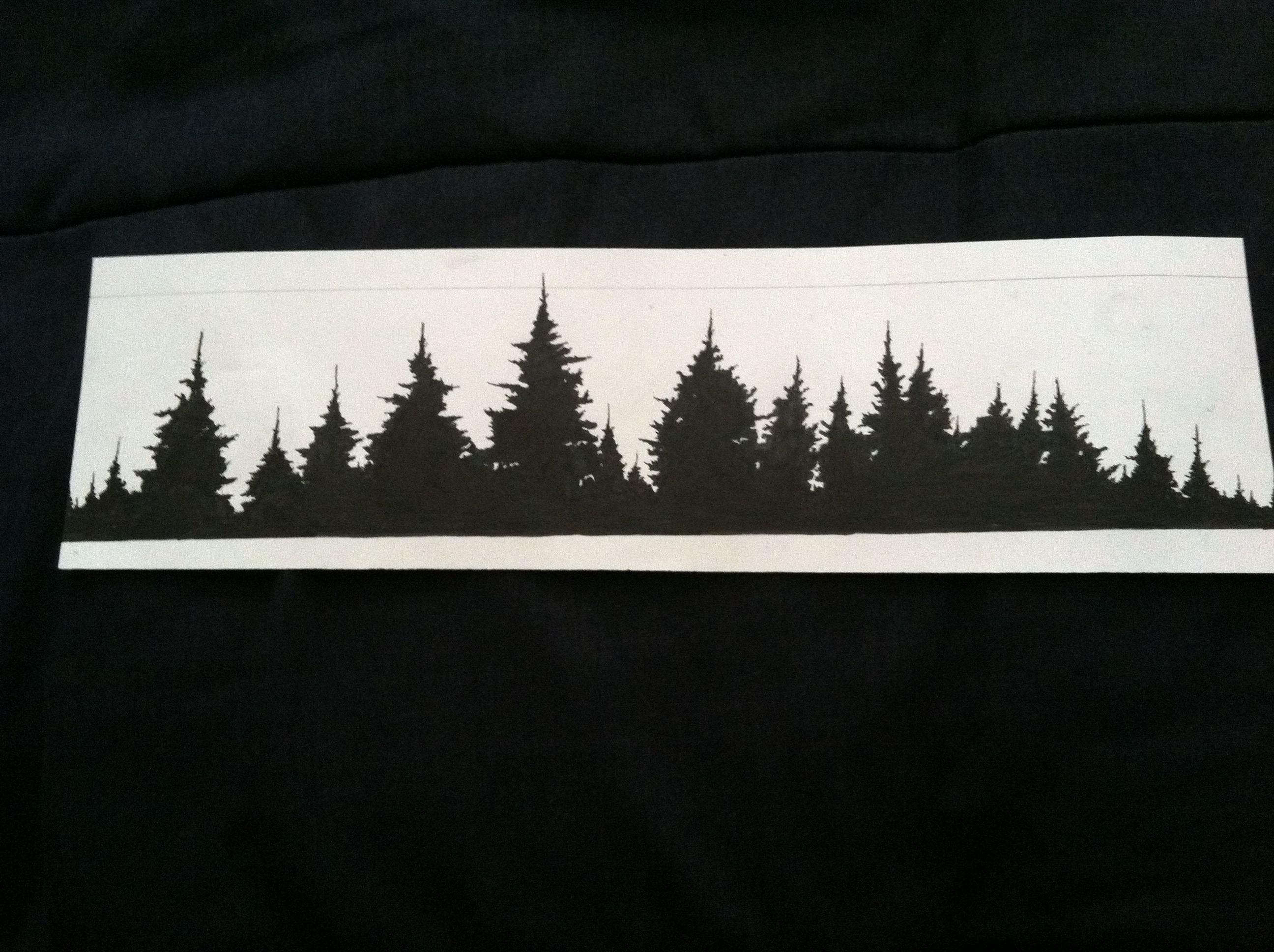 Forest treeline tattoo idea   Silhouette tattoos, Arm band ...