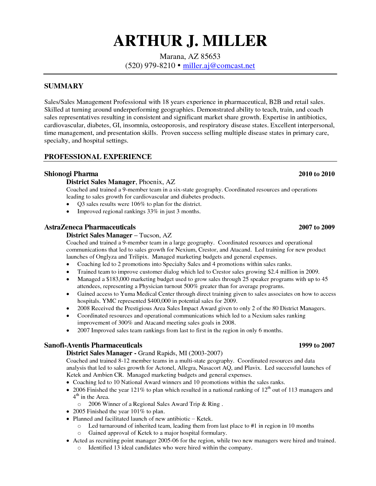 sample resume retail store manager examples templates furniture sales associate