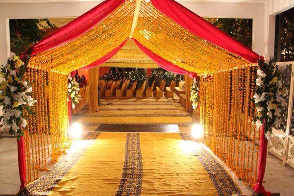 Mehndi Entrance Decor