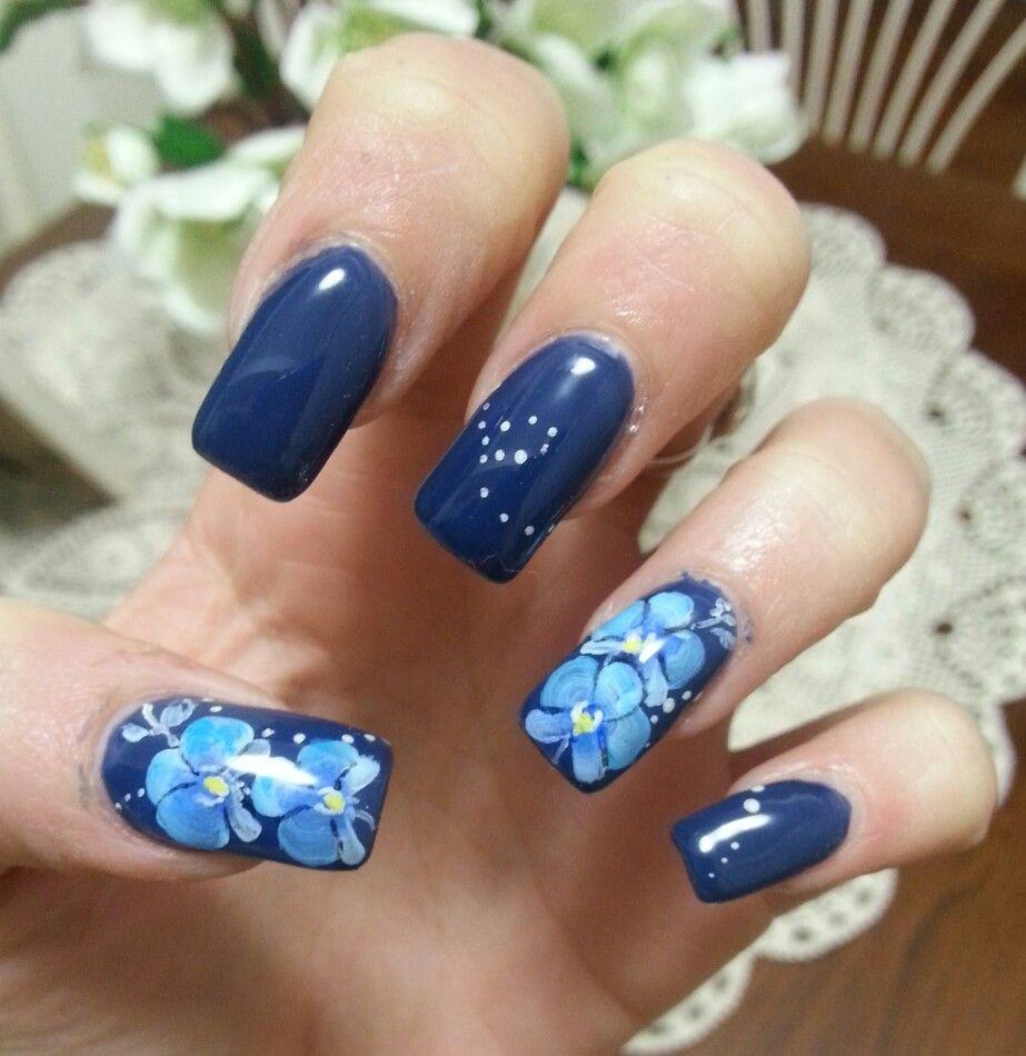 Nail art orchidea blu micropittura nail art pinterest nail art orchidea blu micropittura prinsesfo Gallery