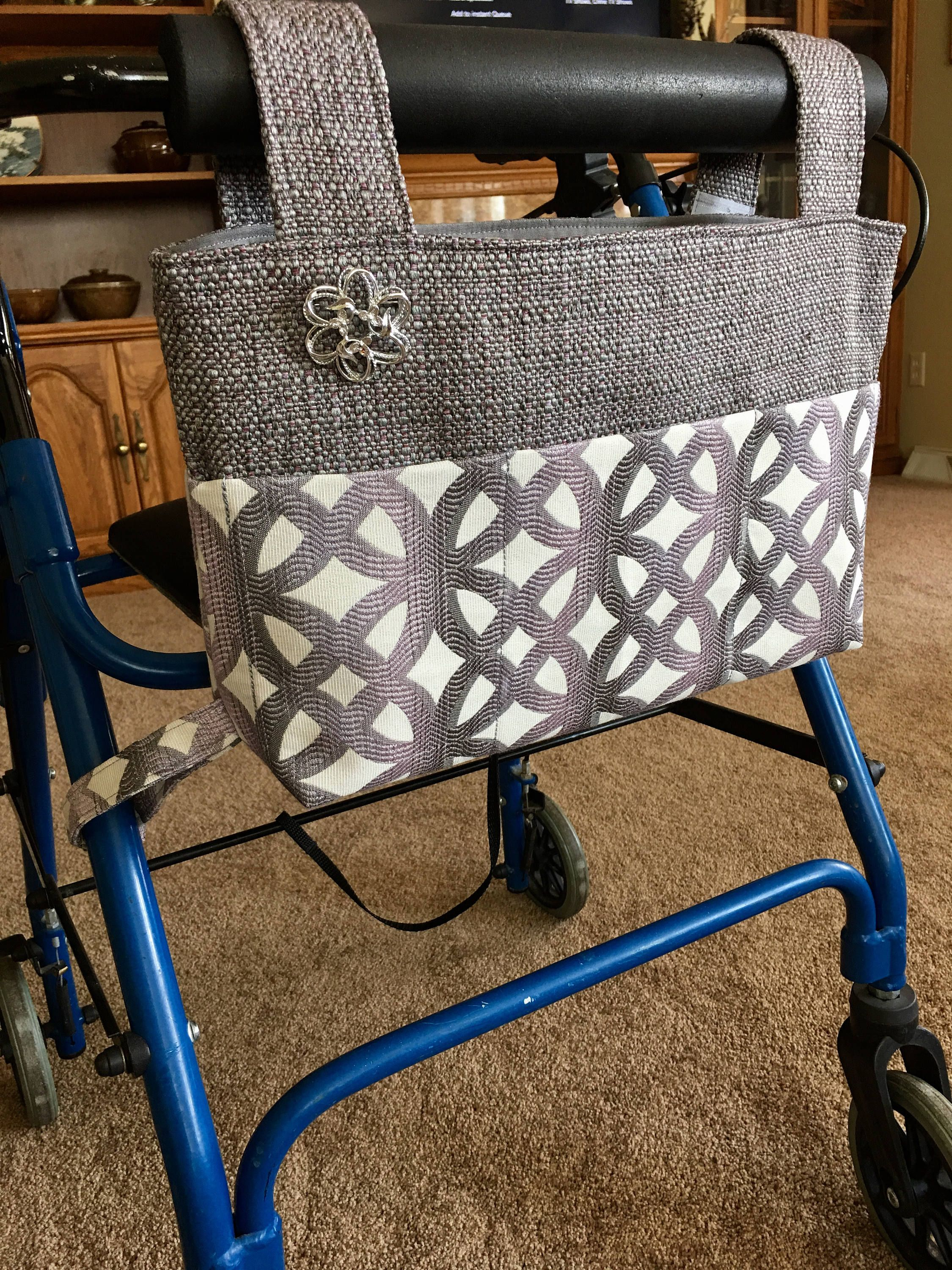 Elegant walker bag, Rollator, mobility accessory, nursing home gift ...