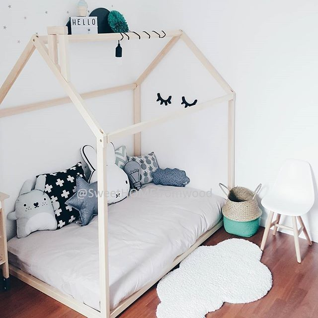 Toddler Bed, House Bed, Tent Bed, Children Bed, Wooden House, Wood