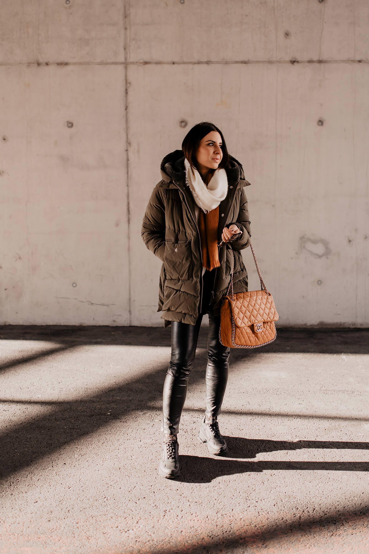 Die perfekte gesteppte Pufferjacke für den Winter: Outfit ...