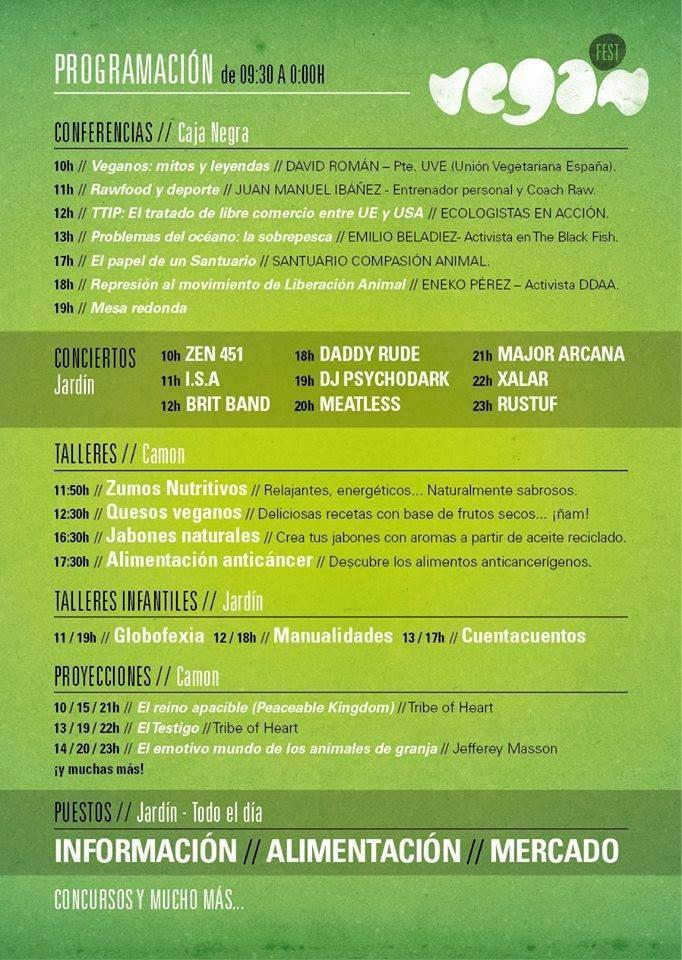 VEGAN FEST - Este Sábado 30/08/14, durante todo el día, de 09,30h a 00,00h, ASOKA EL GRANDE, estará en el VEGAN FEST, que se celebrará en el CENTRO CULTURAL LAS CIGARRERAS DE ALICANTE, en la calle San Carlos. Habrá charlas, eventos para adultos y niños, conciertos y mercadillos. ¡Os esperamos!