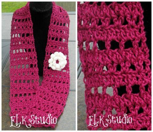 Fresh Air A Free Crochet Summer Scarf Crochet Summer Summer