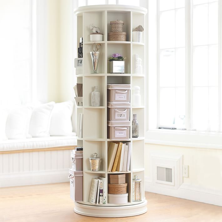 Superb Revolving Bookcase   Create A Rotating Display Of Your Favorite Things With  This Unique, Space Saving Tower. Good Looking