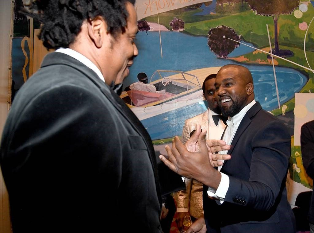 Again Friends After Several Years Of Feuding Kanye West And Jay Z Met On Friday At The Star Studded 50th Sean Diddy Combs Complicated Relationship Kanye West