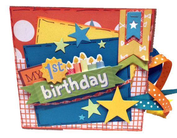 First Birthday Mini Scrapbook Boys 1st Birthday First Birthday