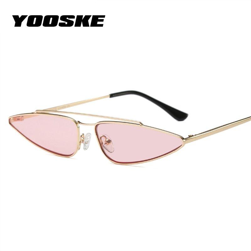 9a5365ca3 YOOSKE Retro Women Sunglasses Sexy Small Cat Eye Eyewear 2018 Fashion  Vintage Ladies Sun glasses Women Brand Designer UV400