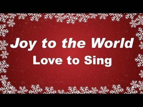 Joy to the World Christmas Carol with lyrics. Sing and read along #lovetosing #christmascarols # ...
