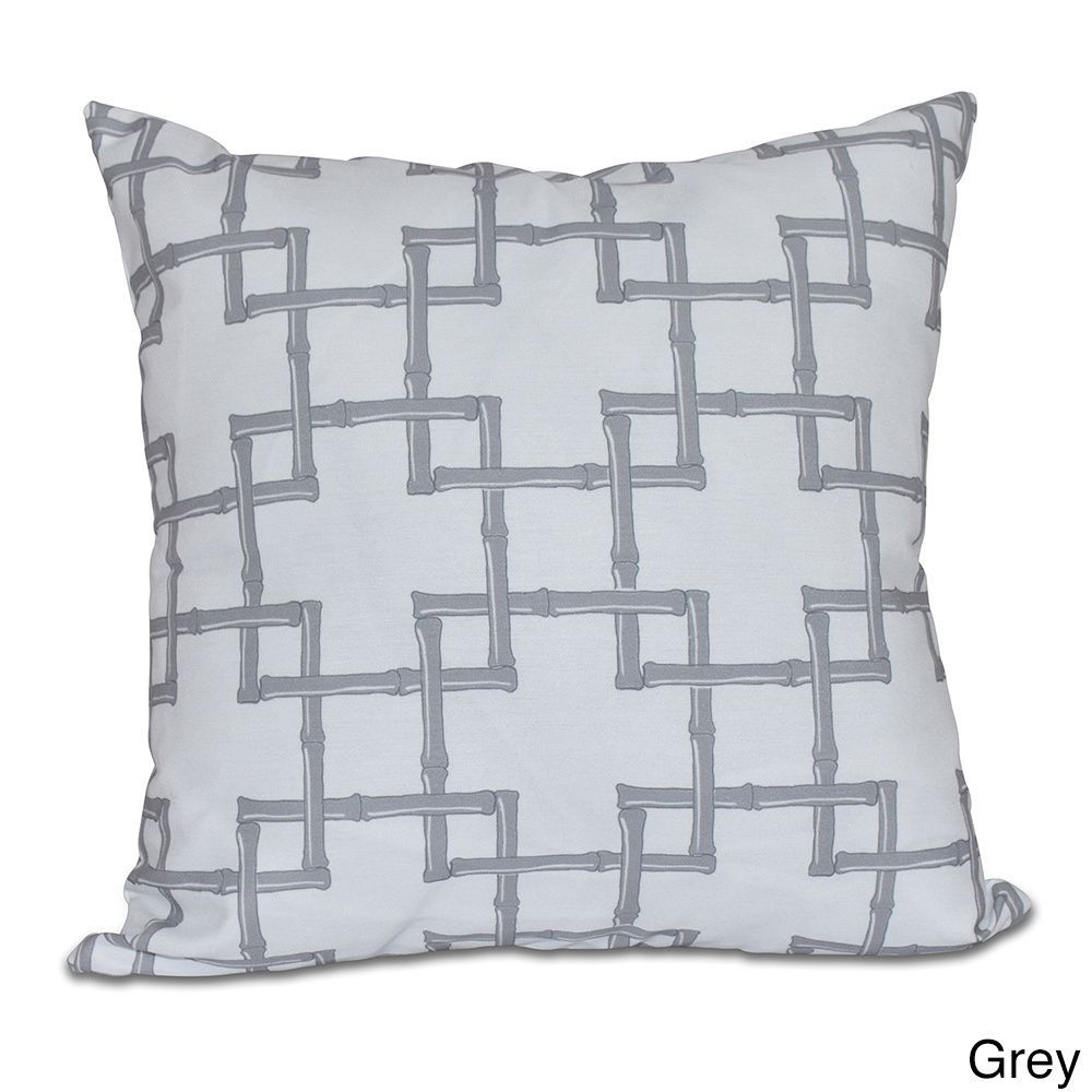 E by design bambies geometric print inch pillow green