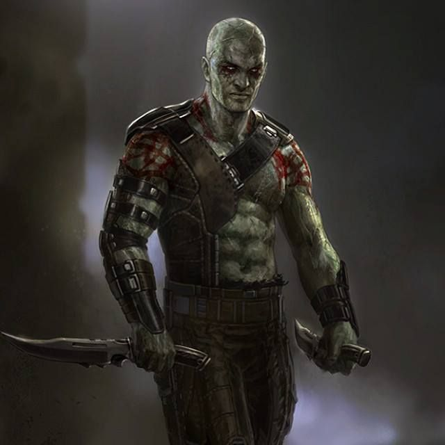 Drax Guardians Of The Galaxy Concept Art
