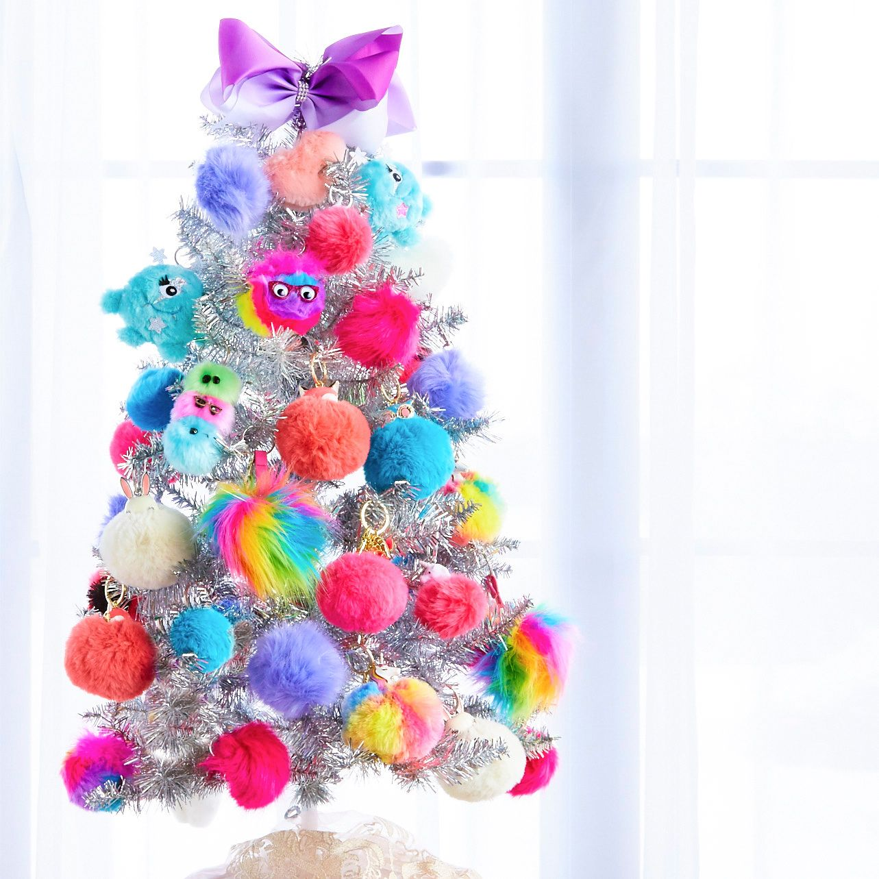 Christmas Tree Decorations Fluffy Unicorn Ornaments Fur Ball Pom Pom Horse Pendant New Year Gifts Decorations 2019 Decorate Your Tree With Our Assortment Of Pom Poms