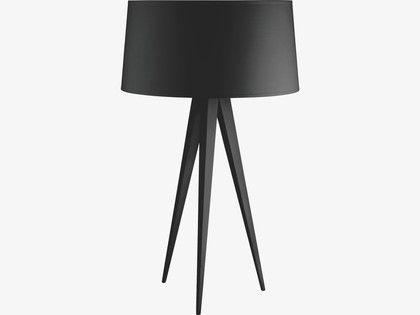 Yves Blacks Metal Black Tripod Table Lamp Base Habitatuk 软装