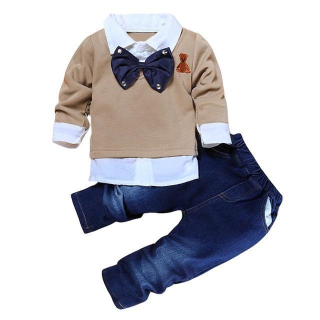 Children Clothing 2018 Autumn Winter Boys Clothes T-shirt+Pants 2pcs