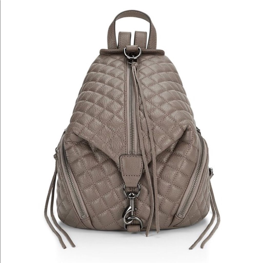 Quilted Medium Julian Backpack - Graphite