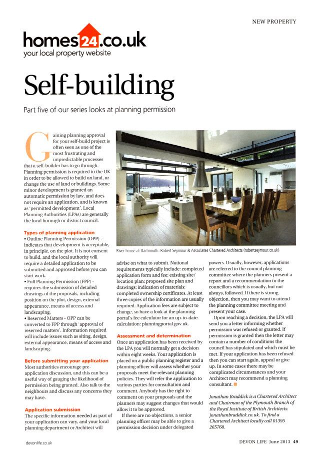 Self Building Your Own Home Planning Permission Part 5 Planning Permission Build Your Own House Self Build Houses