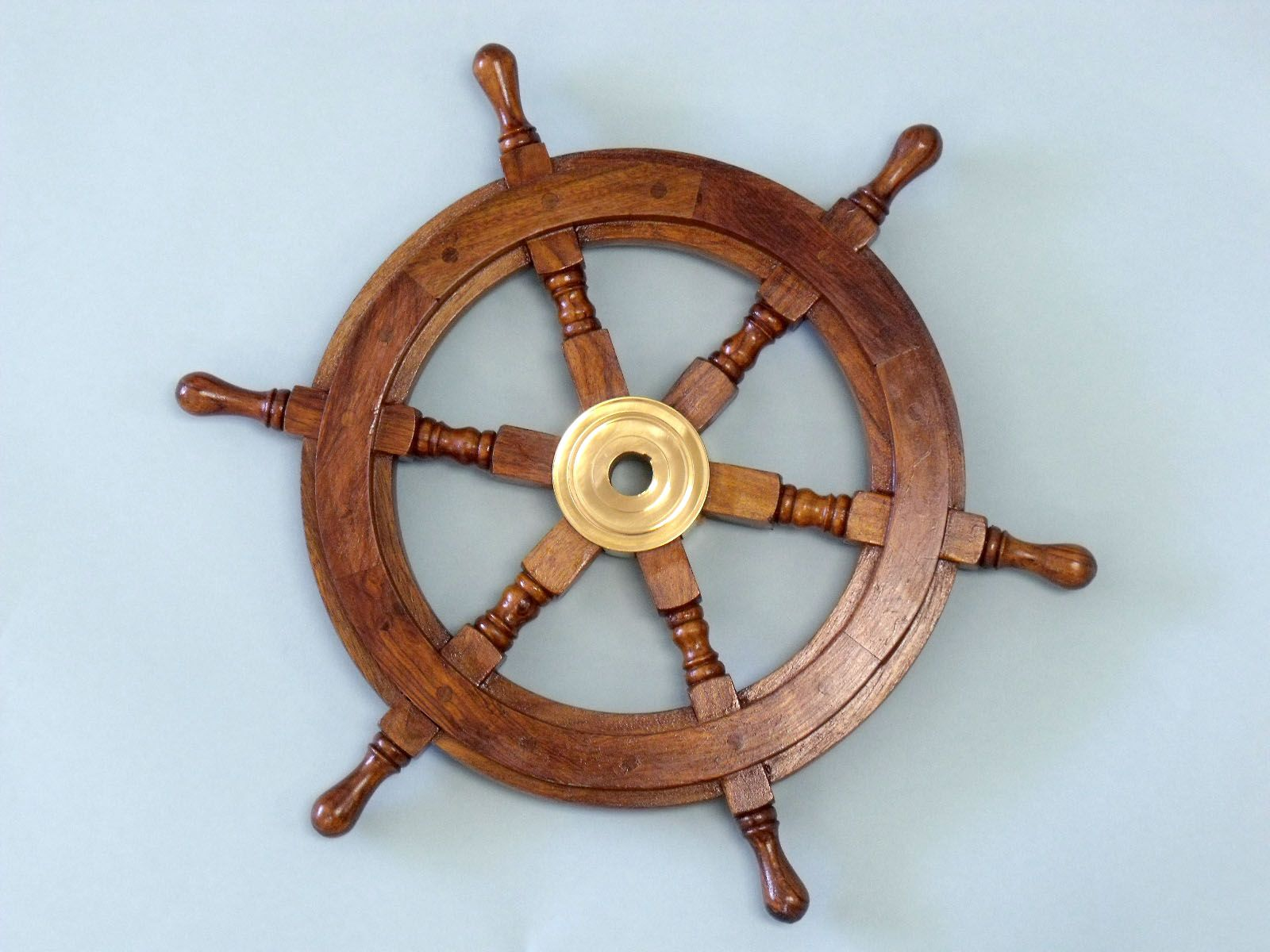 "Classic Wooden Ship Wheel 12"" GoNautical"