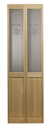Pinecroft 864726 Pantry Half Glass Bifold Interior Wood D Https Www Amazon Com Dp B01j8xuhys Ref Cm S Glass Bifold Doors Bifold Door Hardware Bifold Doors