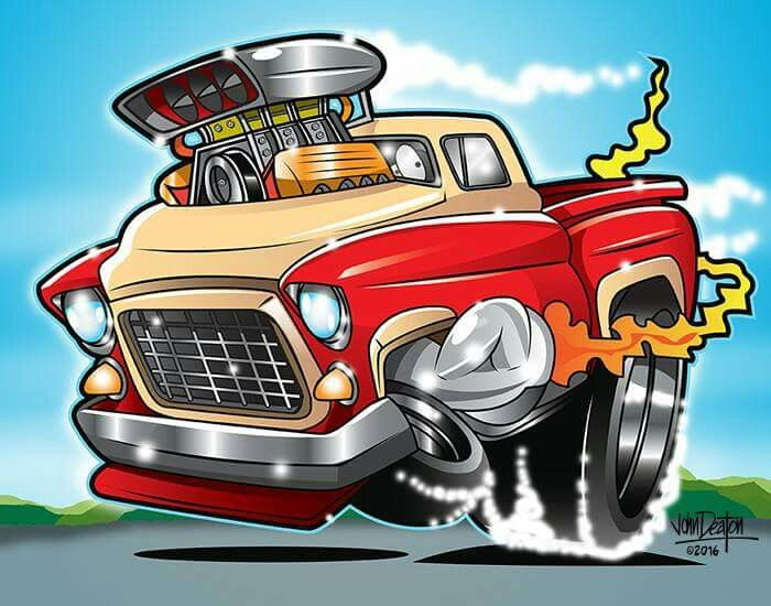 Funky Looking Cars And Trucks Truck Art Art Cars Car Cartoon