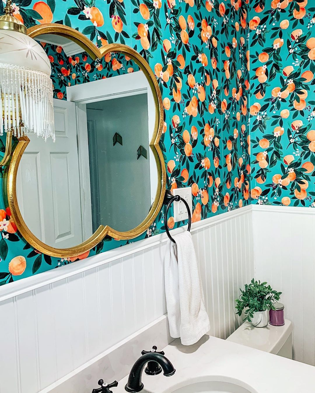 Karlin Summer On Instagram How Much Wallpaper Is Too Much This Bold Wallpaper Is In My Bathroom But I M Thinking About Using A Different Design O