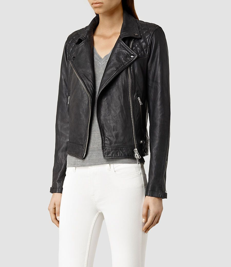 ALLSAINTS Women&39s Conroy Leather Biker Jacket (Ink) | wish list