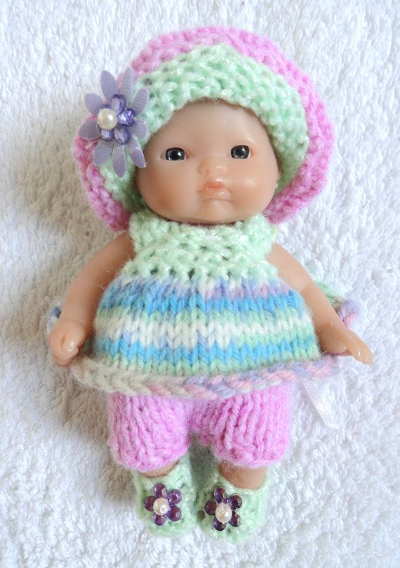 Hand Knitted Dolls Clothes For 5 Berenguer Doll 201 Dolls