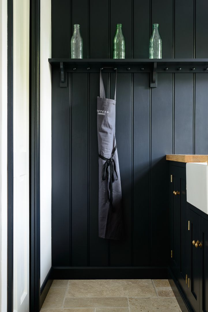 Pantry Blue Tongue And Groove Panelling And A Beautifully Simple Shaker Peg Rail S Tongue And Groove Panelling Painting Wood Paneling Tongue And Groove Walls
