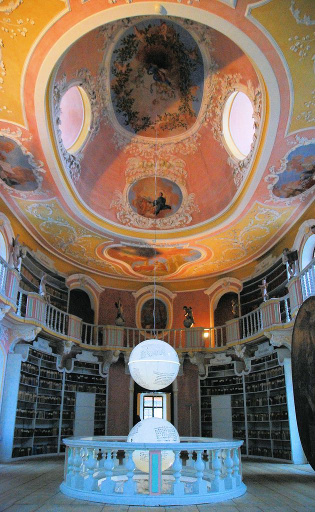 Fussen Kloster St Mang Ovale Bibliothek 1719 Innen Beautiful Library Architecture Tumblr Old Libraries