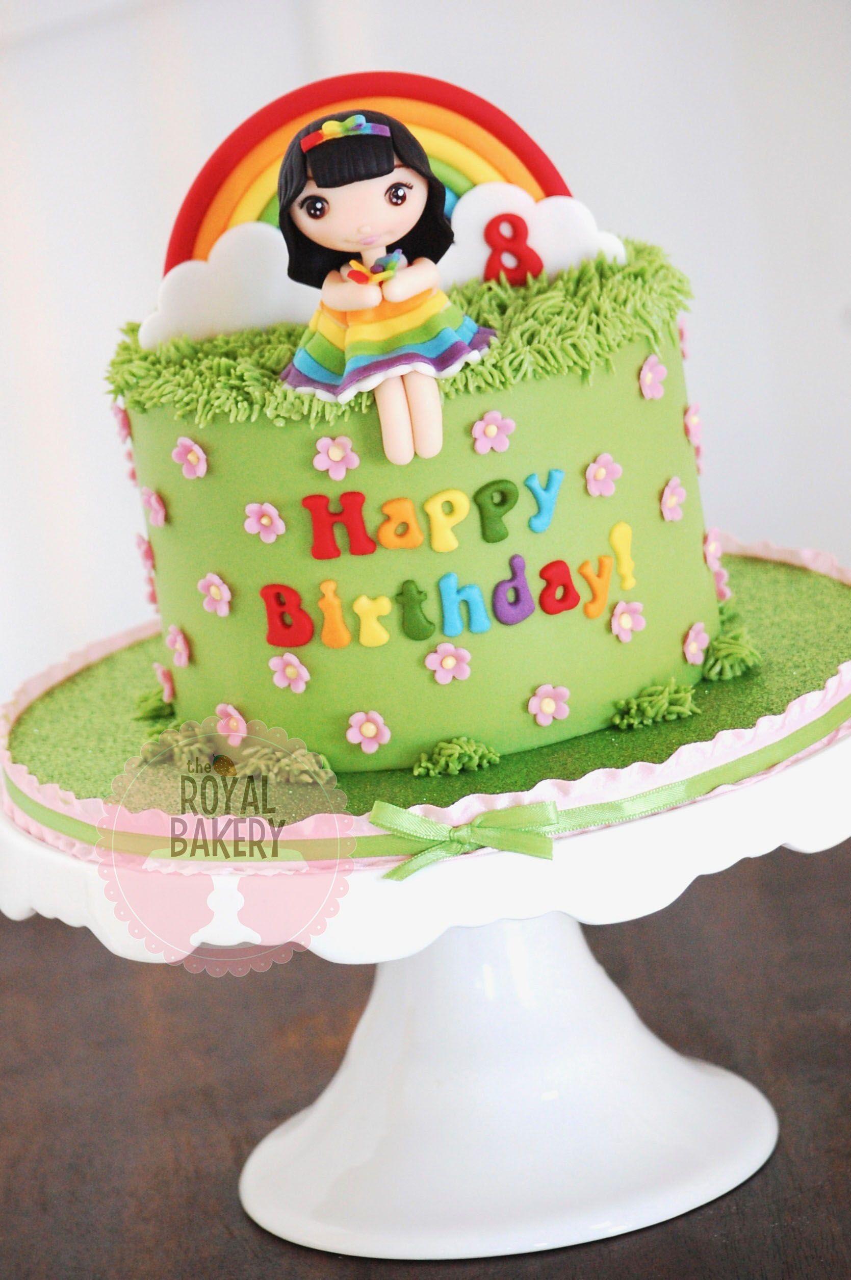 Groovy Rainbow Birthday Cake Rainbow Birthday Cake Cake Custom Cakes Funny Birthday Cards Online Benoljebrpdamsfinfo