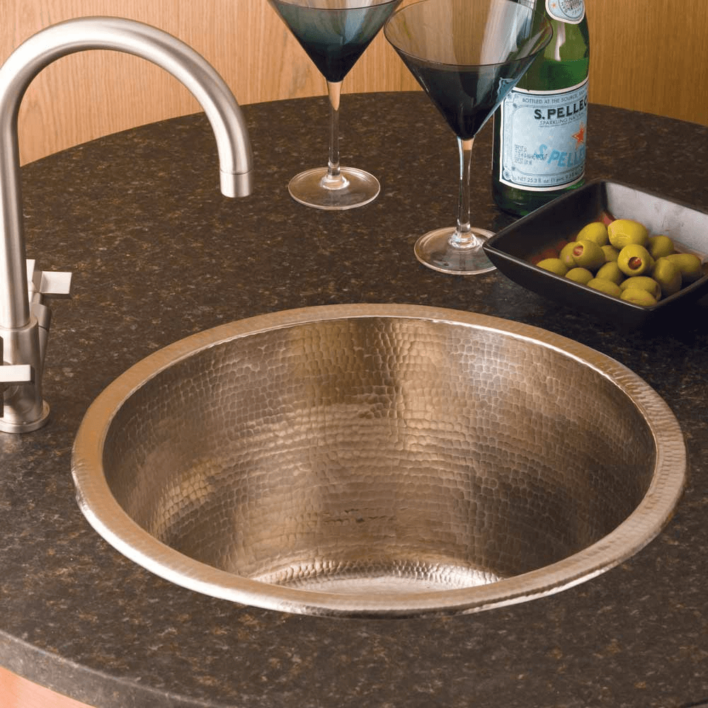 Cps551 Redondo Grande Bar And Prep Sink In Brushed Nickel Copper Bar Sink Bar Sink Wet Bar Sink