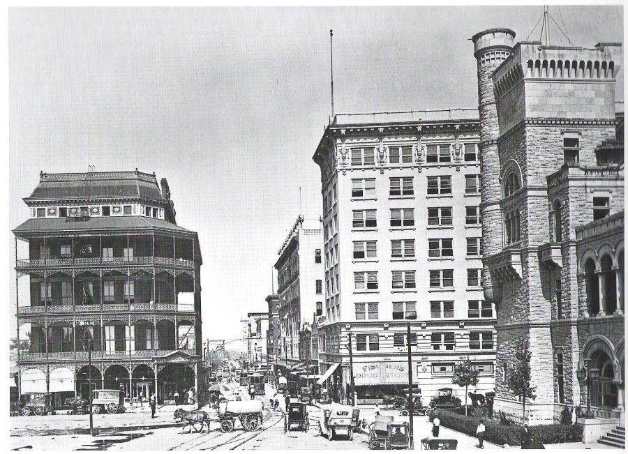 Ca 1910 maverick bank building and gibbs building old