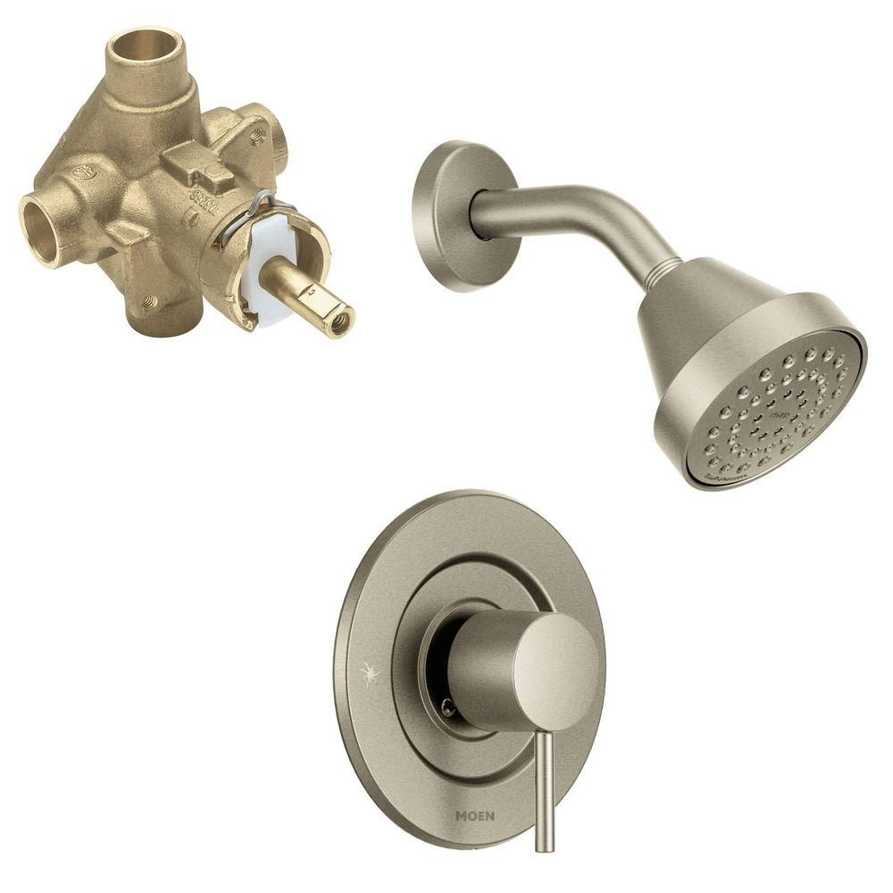 Peerless Single Handle Shower Faucet Trim Kit In Brushed Nickel