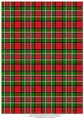 Red Green Tartan Effect A4 Backing Paper on Craftsuprint designed by Elaine Sheldrake - Perfect backing paper for matting cards and scrapbooking for Christmas, New Year, Hogmany, Burns Night, Highland games etc. - Now available for download!