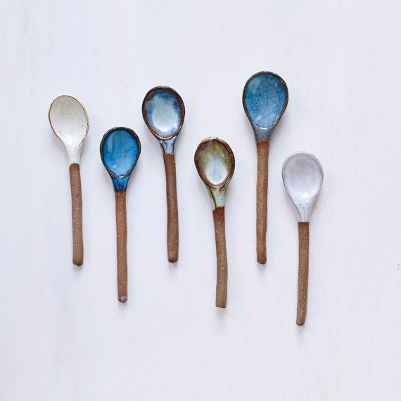 Choice Handmade Ceramic Spoons in Hazelnut Clay MADE TO ORDER